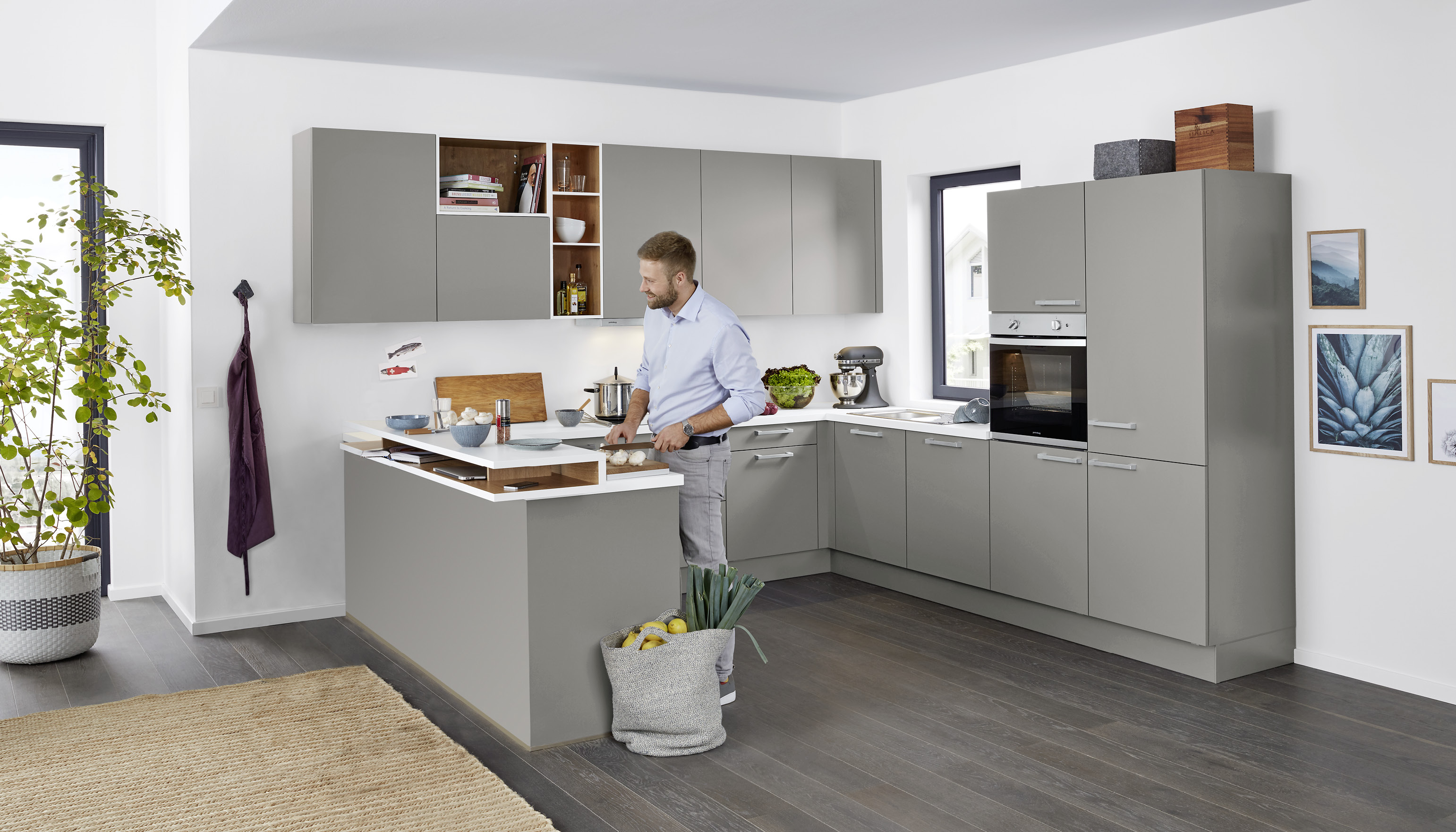 Ziemlich Küche Mit Großer Insel Ideen - Küche Set Ideen ...