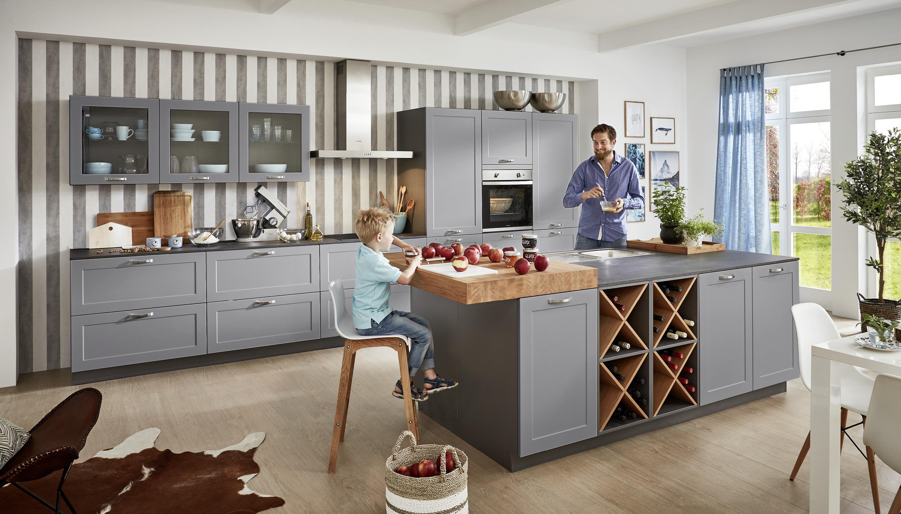 Küche Landhausstil U Form. Tapeten Für Die Küche 200 Cm Ikea Rot ...